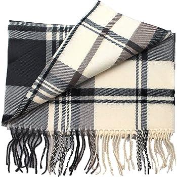 Men Women 100/% CASHMERE Scarf tartan Plaid Design Soft MADE IN SCOTLAND Beige