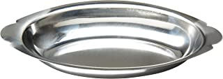 Winco Stainless Steel Oval Au Gratin Dish, 15-Ounce