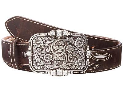 Ariat Cream Underlay Design Belt (Brown) Women