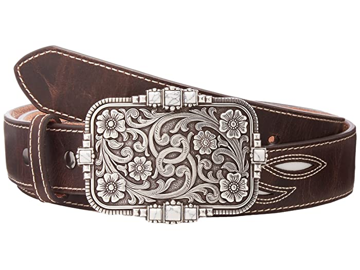 Ariat Cream Underlay Design Belt (Brown) Women