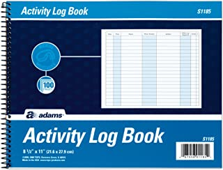 Adams Activity Log Book, Spiral Bound, 8.5 x 11 Inches, 100 Pages, White (S1185ABF)