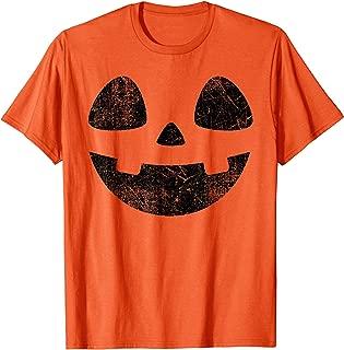 Vintage Jack O Lantern Pumpkin Face Halloween Costume Shirt