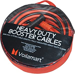Voilamart Heavy Duty 3000AMP Car Battery Jump Leads Booster Cables Jumper Cable for Petrol Diesel Car Van Truck  Includes Zipped Carry Bag with Handle
