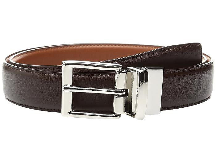 Polo Ralph Lauren Saddle Leather-1 1/8 Reversible (Brown/Cognac) Men