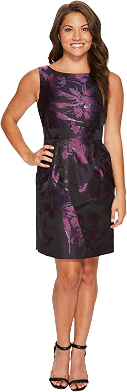 Tahari by ASL Petite - Petite Metallic Jacquard Sheath
