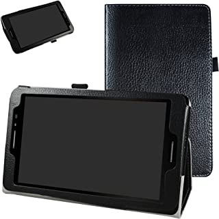 AT&T Trek 2 HD Case (Model 6461A),Mama Mouth PU Leather Folio 2-Folding Stand Cover with Stylus Holder for 8