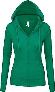 Womens Multi Colors Thermal Zip Up Casual Hoodie Jacket S-3X