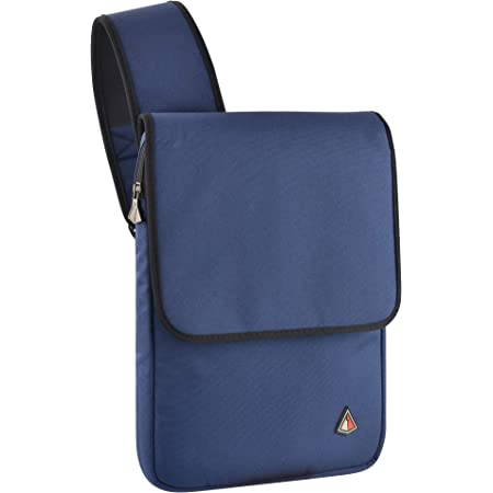 TXEsign Cross Body Water Resistant 13 inch Laptop Sleeve Shoulder Bag Compatible with All MacBook Air Pro 13 inch Chromebook Ultrabook(13 - 14 Inch, Blue)