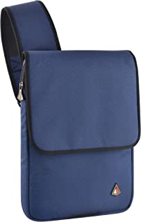 Lightning Power - Cross Body Water Resistant 13 inch Laptop Sleeve Shoulder Bag for All MacBook Air Pro 13 inch Chromebook Ultrabook (Light Gray, Dark Gray, Black, Orange) 13-14 Inch Blue