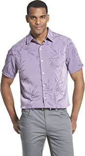 9a9d98f053bb1 Van Heusen Mens Air Tropical Short Sleeve Button Down Shirt Button Down  Shirt