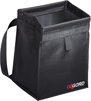 OxGord Waterproof Car Trash Can - 100% Leak-Proof, Plus Odor Blocking - Back Seat Hanging Garbage Holder - Closeable Waste Bag Basket Organizer Best for Must Haves Cute Interior Car Accessories