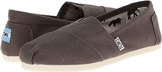 Toms 001001B07-GREY: Womens Classics Ash Canvas Grey Alpargata Casual Sneakers