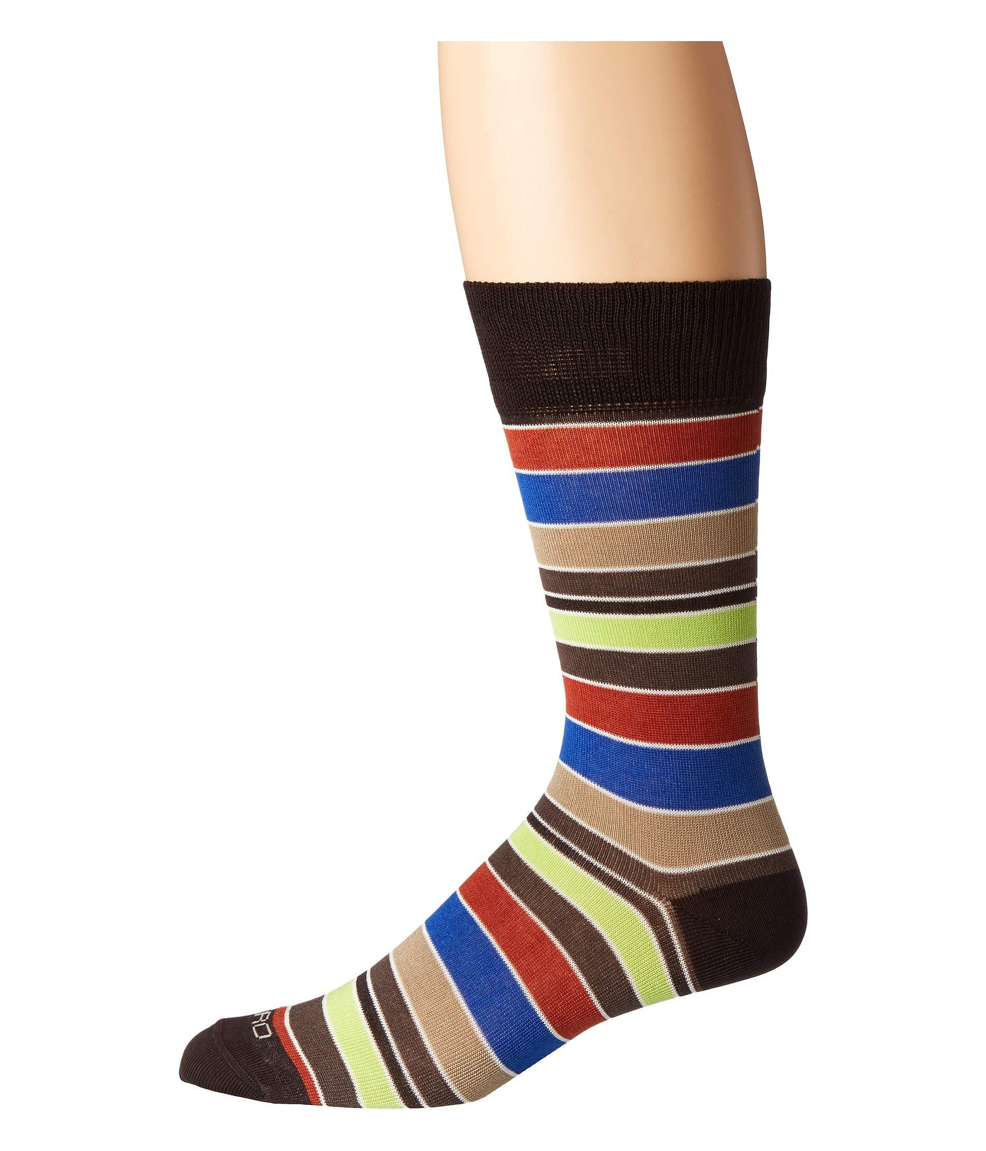 Etro Black Socks Multi Bold Striped XzrPX4