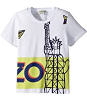 Kenzo Kids - Paperplane Statue Tee Shirt (Toddler/Little Kids)