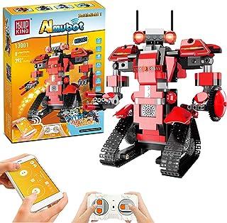Bloques de Construcción RC Robot, Control Remoto STEM Robot Toy Kit de Robótica de Educativo DIY Robots Electrónicos Intel...
