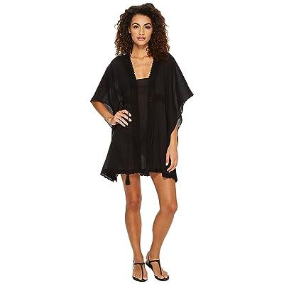 Jantzen Crochet Tunic Cover-Up (Black) Women