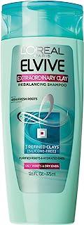 L'Oréal Paris Elvive Extraordinary Clay Rebalancing Shampoo, 12.6 fl. oz. (Packaging May Vary)