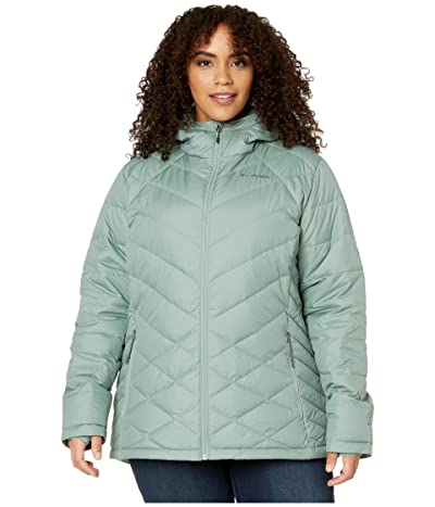 Columbia Plus Size Heavenly Hooded Jacket (Light Lichen) Women
