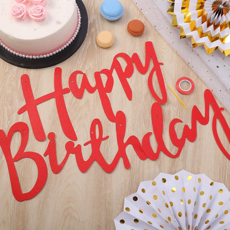5 m couleur hellomagic Banderole avec inscription /« Happy Birthday /» /à suspendre D/écoration danniversaire