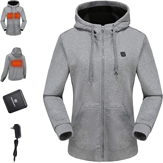 ADDHEAT Heating Hoodies - Heated Coat with Battery for Men and Women