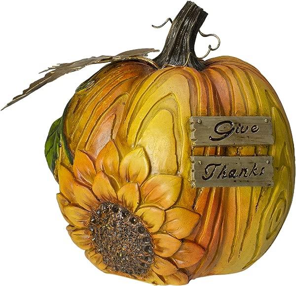 Northlight 6 5 Sunflower Give Thanks Fall Thanksgiving Pumpkin Decoration