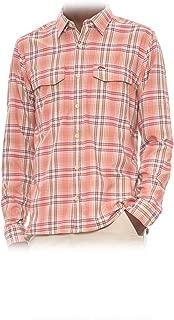 Men's Legend LS Shirt, Dark Coral Plaid