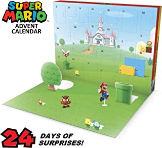 SUPER MARIO Nintendo Advent Calendar Christmas Holiday Calendar with 17 Articulated..