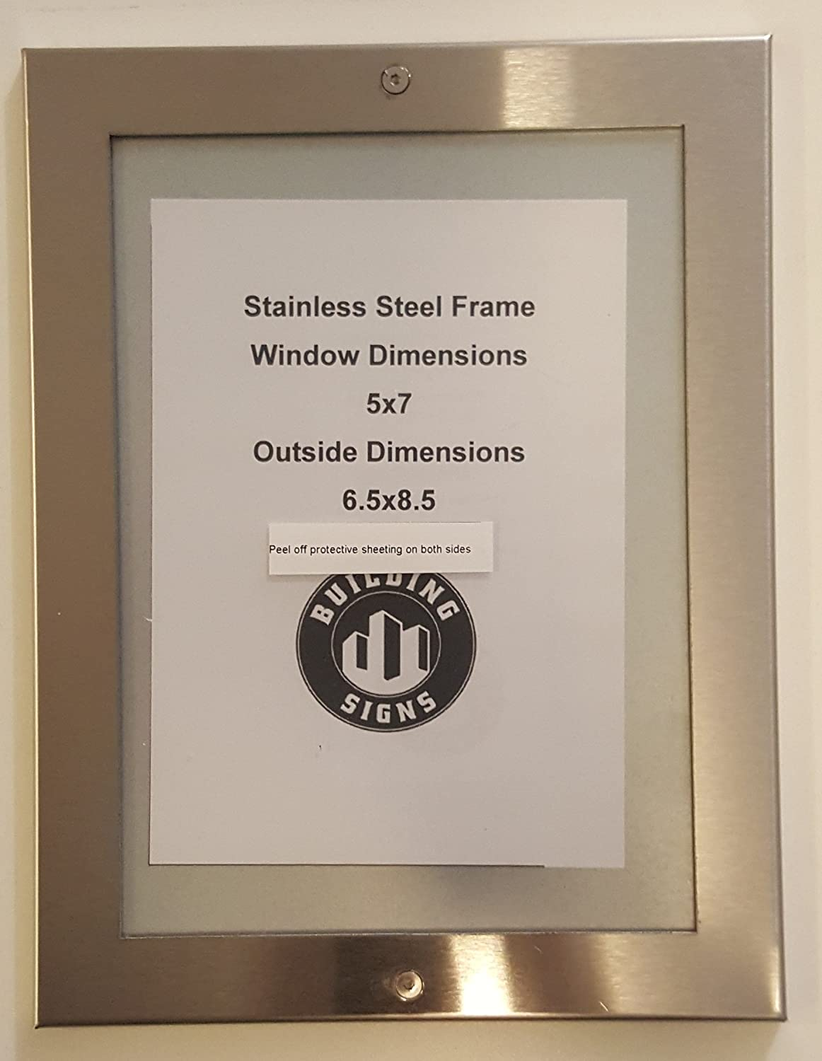 Elevator certificate frame Rare 5x7 stainless Steel High material