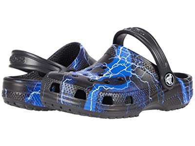 Crocs Kids Classic Out of This World (Little Kid/Big Kid) (Black/White) Kid