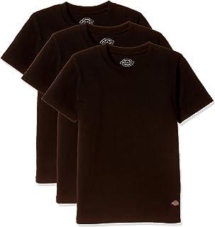 [ディッキーズ] キッズジュニア半袖インナー 3枚組 天竺編み 黒 491912