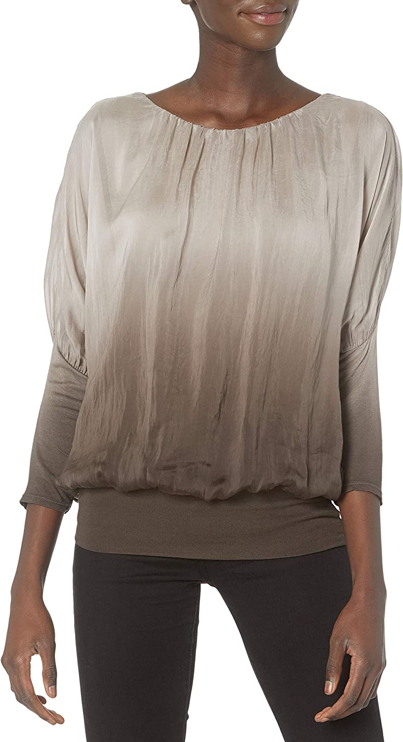 M Made in Italy Women's Ombre Discount mail order 3 Max 79% OFF with Sleeves 4 Top