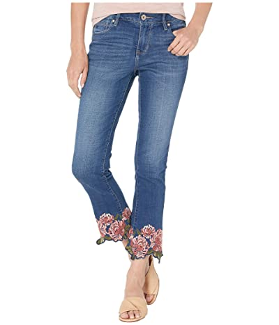 Jag Jeans Ellis Cropped Boot Jeans w/ Embroidery in Brilliant Blue (Brilliant Blue) Women