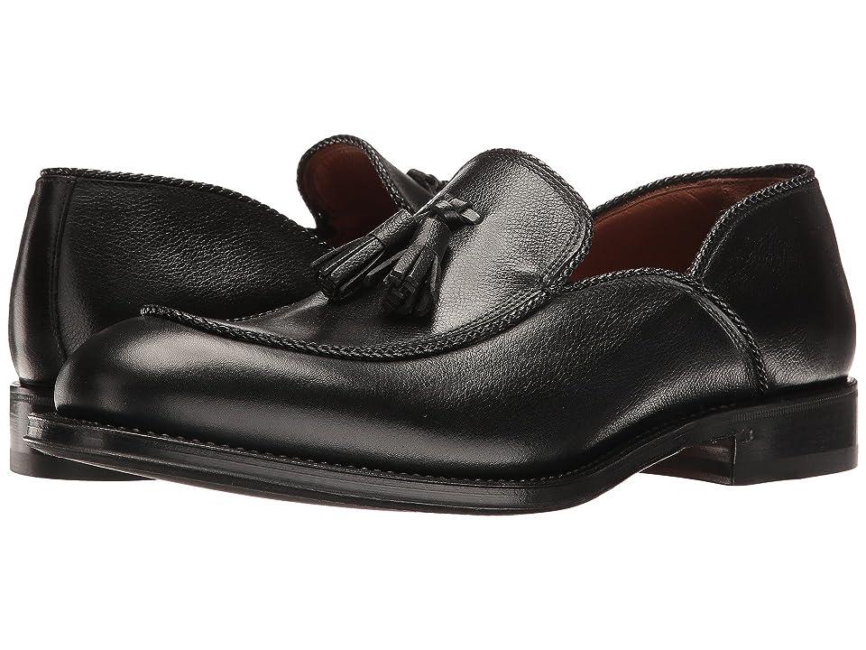 Aquatalia Vigo (Black Textured Dress Calf) Men