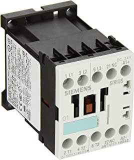 Siemens 3RT10 17-1BB42 Motor Contactor, 3 Poles, Screw Terminals, S00 Frame Size, 1 NC Auxiliary Contact, 24V DC Coil Voltage