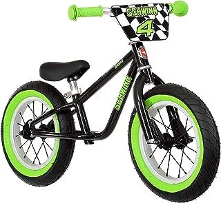 Schwinn Skip 4 Balance Bike, 12-Inch Wheels, Black/Green
