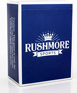 Rushmore Card Games - Sports Edition (17+) The Monumental Game of Wits, Lists and Tiffs - Adult Party Game - Great Stocking Stuffer for Sports Fanatics