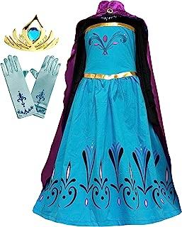 Girls Coronation Dress Costume Cape Gloves Tiara Crown Accessories Set