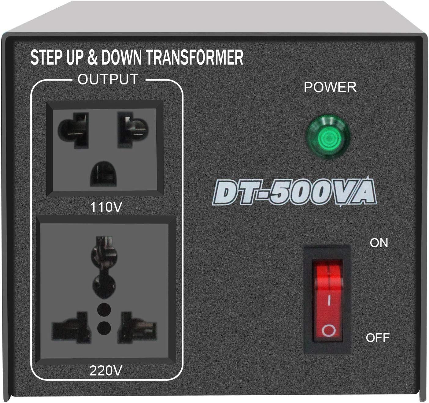 Yinleader 500W Voltage Transformer Power Converter(220V to 110V, 110V to 220V) Step Up/Down Converter 110/120 Volt - 220/240 Volt