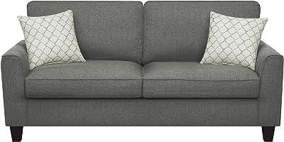 "Serta Deep Seating Astoria 78"" Sofa in Dark Gray"