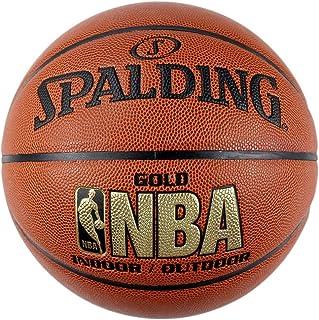 SPALDING斯伯丁室内室外篮球 7号标准蓝球 PU材质 金色经典 74-606Y