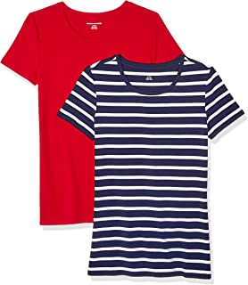 Amazon Essentials (アマゾン エッセンシャルズ)  レディース クルーネックTシャツ 2枚組