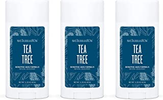 Schmidt's Aluminum Free Natural Deodorant for Women and Men, Tea Tree for Sensitive Skin with 24 Hour Odor Protection, Cer...