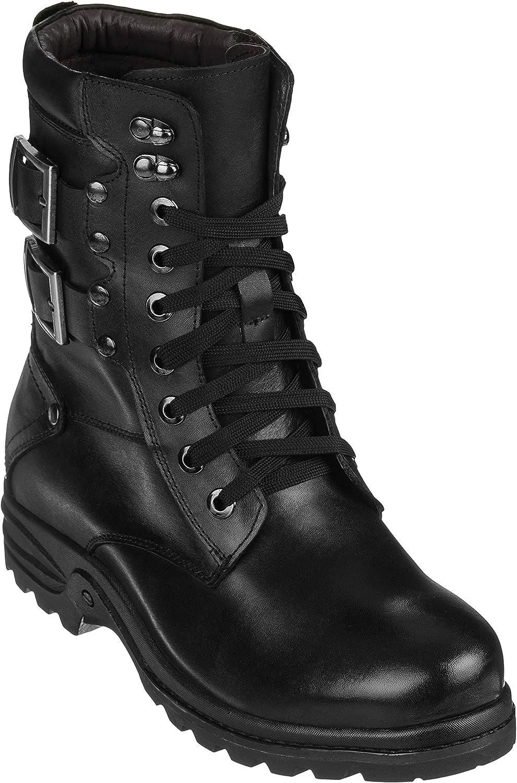 Calden Men's Invisible Height Increasing Black Elevator Shoes Max 64% OFF online shop -