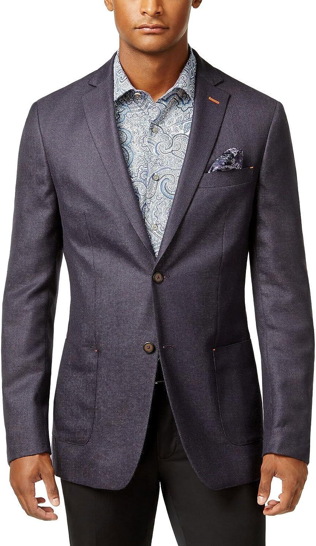 Tallia Mens Dotted Two Button Blazer Jacket