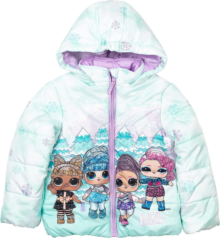 L.O.L. Surprise! Coconut Q.T. Dawn Surfer Babe Zip-Up Winter Coat Puffer Jacket