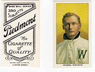 1909-11 T206 Walter Johnson Baseball Card 1977 Dover Reprint Washington Senators