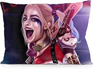 DoubleUSA Comic Harley Quinn Suicide Squad Soft Pillowcases Two Sides Print Zipper Pillow Covers 20