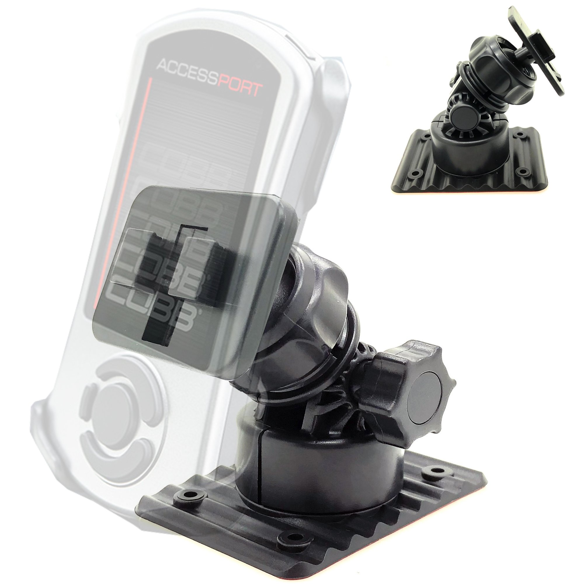 ChargerCity Stick-On Articulate Windshield Suction Mount for COBB Tuning AccessPORT V3 Auto Tuner Programmer Device