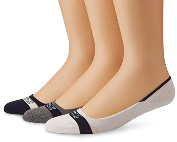 5-10 Sperry Top-Sider Womens 3 Pack Invisible Slub Liner Socks navy assorted Shoe Size