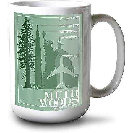 Muir Woods National Monument California Trees And Ocean 15oz White Ceramic Mug Posters Prints